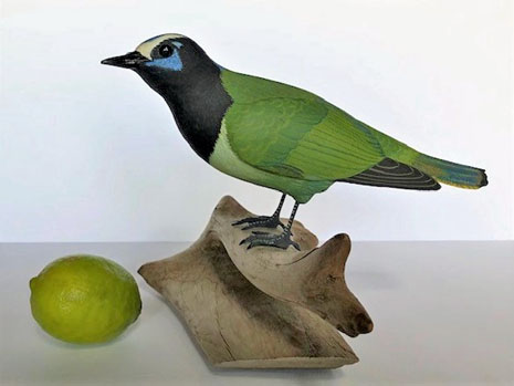 Carving of a Green Jay