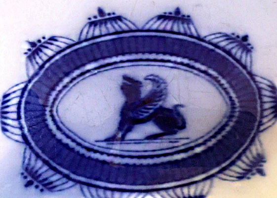 """Sphinx"" Pattern Flow Blue Platter"