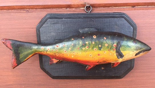 Small Trout Carving