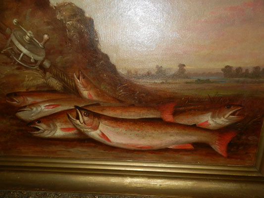 Oil Painting of Brook Trout